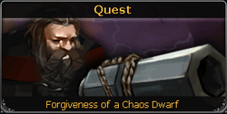 Forgiveness of a Chaos Dwarf noticeboard