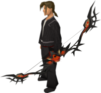 Infernal bow equipped