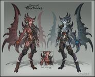 Twin Furies concept art