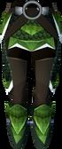 Green dragonhide chaps (t) detail