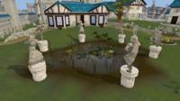 Falador park statues.png