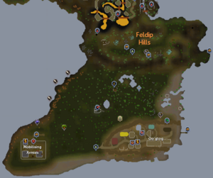 Feldip Hills map