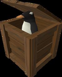 Een penguin in vermomming.