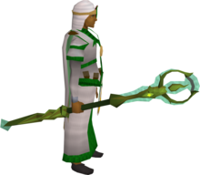 Guthix crozier equipped