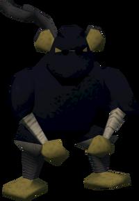Unarmed monkey guard