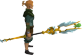 Armadyl battlestaff equipped