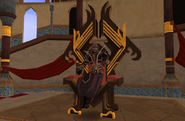 Sliske on throne