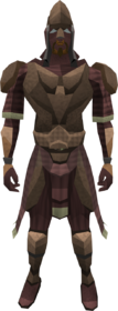 Megaleather armour (male) equipped