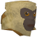 Monkey (tan and beige) chathead