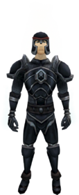 Dark armour equipped