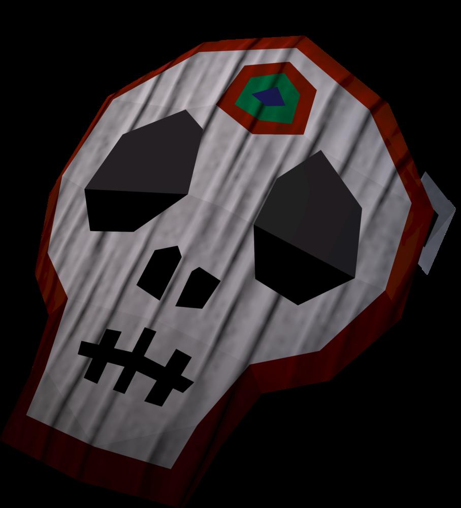 Skull mask detail