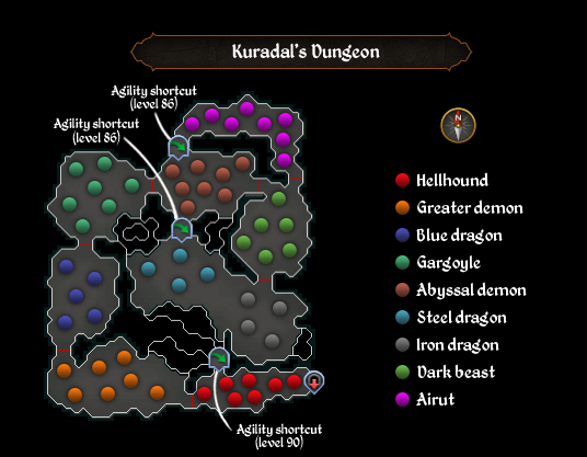 Kuradal's Dungeon map