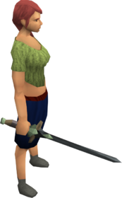 Bathus longsword equipped