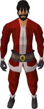 Santa costume equipped