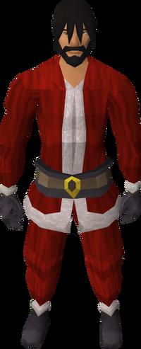 Santa costume equipped