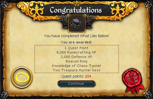 What Lies Below reward