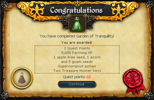 Garden of Tranquility reward