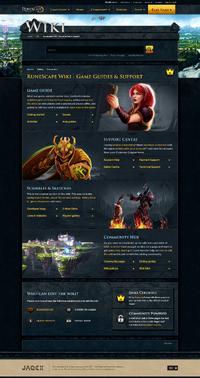 RuneScape Wiki (Jagex) main page