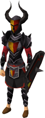 Black heraldic armour set 5 (sk) equipped