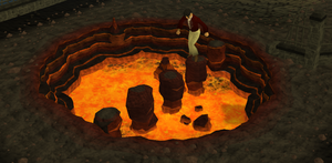 Wilderness agility course(Stepping stones)
