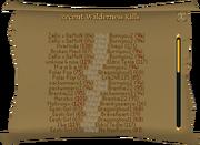 Recent Wilderness Kills interface