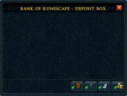Bank deposit box interface