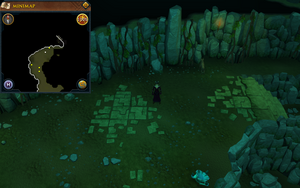 Scan clue Brimhaven Dungeon upper level west of north staircase
