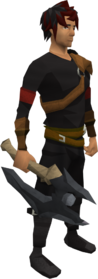 Primal battleaxe equipped