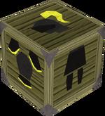Black gold-trimmed armour set (sk) detail