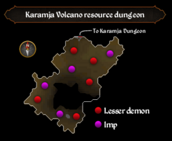 Karamja Volcano resource dungeon map