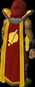 Retro attack cape (t) equipped