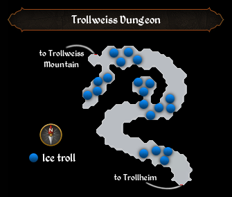 Trollweiss Dungeon map