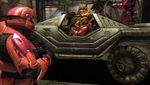Sarge Simmons and Grif in Warthog Reconstruction