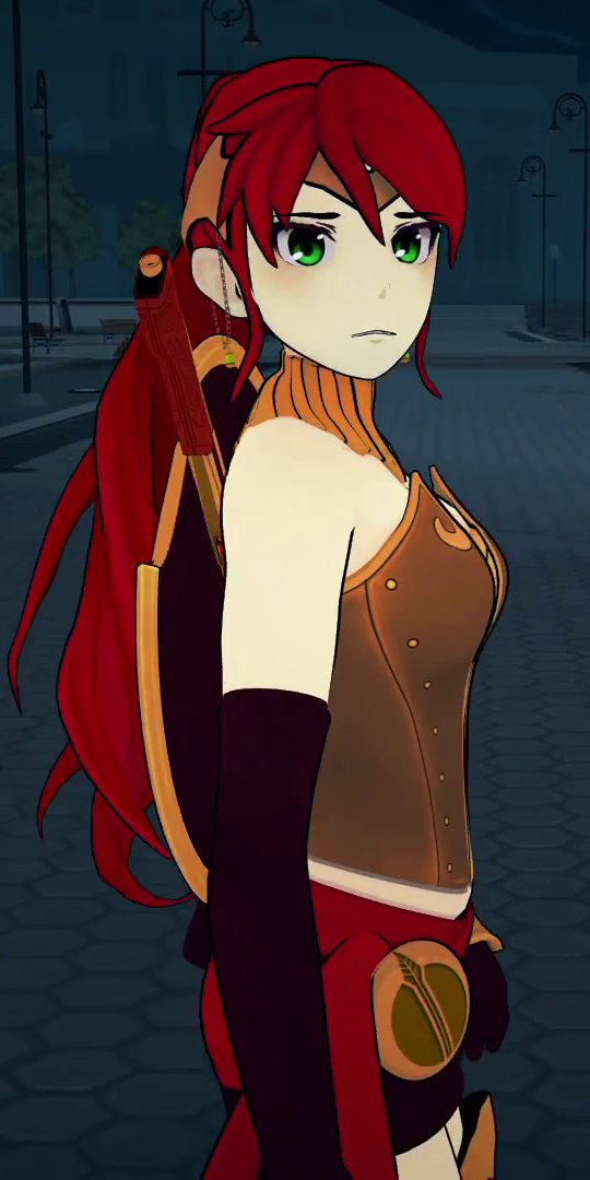 Pyrrha Nikos on emerald rwby vol 4