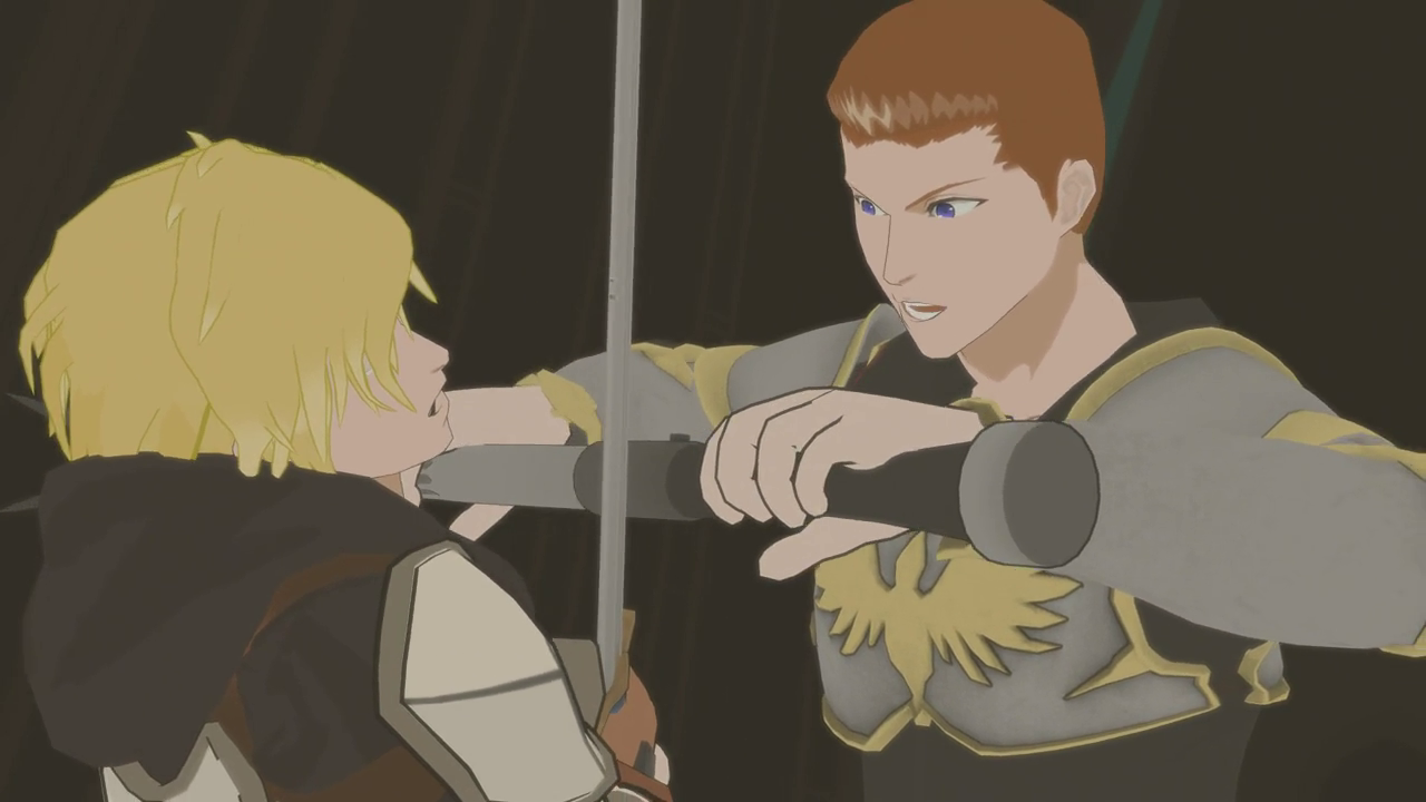 Jaune Vs Cardin Rwby Wiki Fandom Powered By Wikia