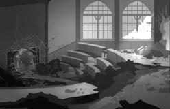 Beacon Broken Lecture Hall Concept Art