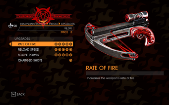 Gat out of Hell - Hand Crossbow - Upgrades