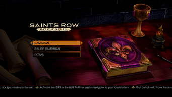 Gat out of Hell main menu - Activate the GPS in the HUB MAP to easily navigate to your destination