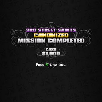 Canonized mission complete 1000 Cash