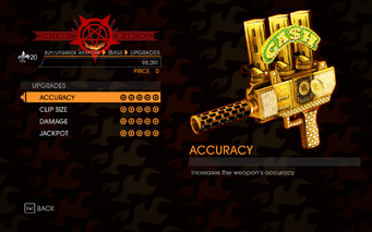 Gat out of Hell - 7 Deadly Weapons - Greed - Upgrades