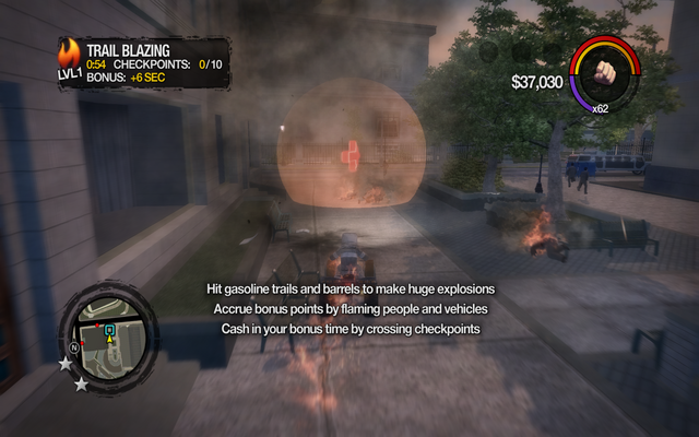 File:Trail Blazing on-screen text in Saints Row 2.png