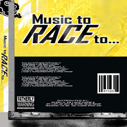 CD variant back - Music to Race to