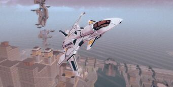 F-69 VTOL - front right flying upwards in Saints Row IV