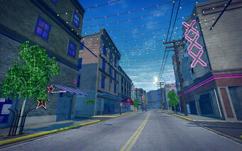 Bavogian Plaza in Saints Row 2 - street in the day
