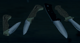 Knives on display at Friendly Fire in Saints Row The Third