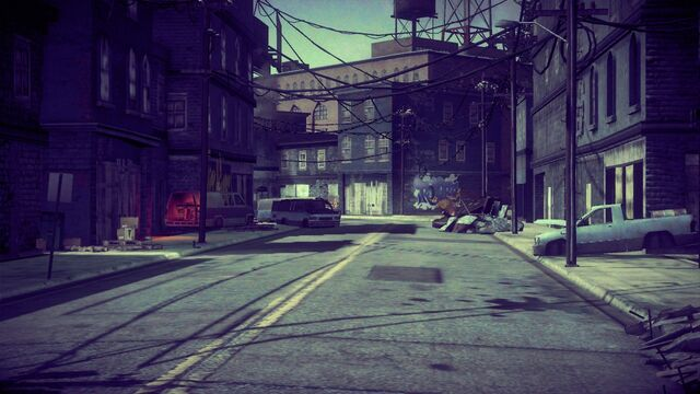 File:Virtual Stilwater in Saints Row IV - looking towards Rollerz graffiti.jpg
