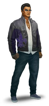 Johnny Gat Concept Art - Saints Row The Third - dark hair