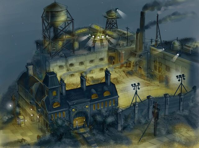 File:Concept Art of Stilwater Penitentiary entrance from above at night.jpg