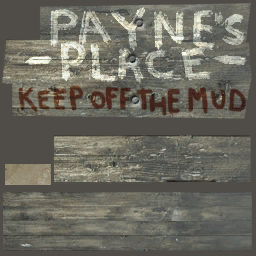 Payne's Place keep off the mud woodshacksign a d
