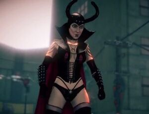 The Dominatrix in cutscene for unknown mission
